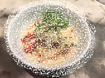 限定の冷やし麺はほぼ完成しています。の画像
