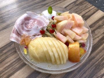 熊本県天草の復興支援の桃の限定麺